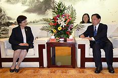 郭洪昌洛陽市市長を表敬訪問