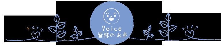Voice 皆様のお声
