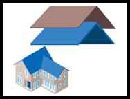 屋根工事の種類 イメージ