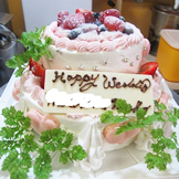 サプライズ記念日ケーキ