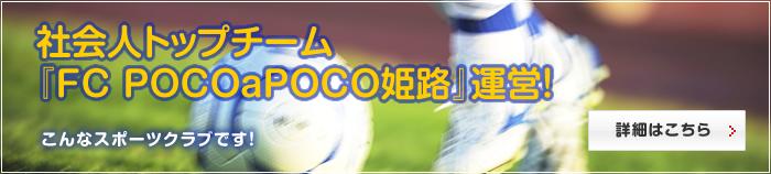 社会人トップチーム『FC POCOaPOCO姫路』運営!
