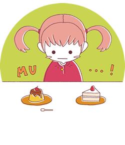 プリンとケーキとの違い