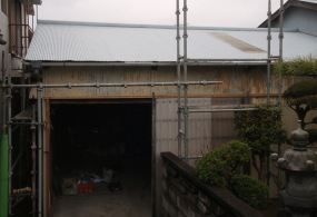 加古川市A様邸:倉庫塗装ビフォー