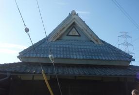 三木市S寺:屋根塗装ビフォー