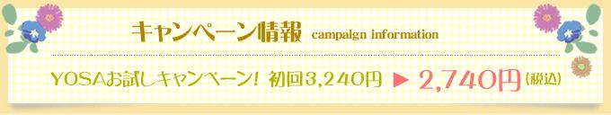 YOSAお試しキャンペーン情報